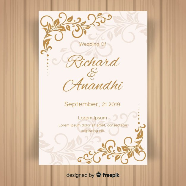 Free Wedding Invitation Template Fresh Wedding Invitation Vectors S and Psd Files