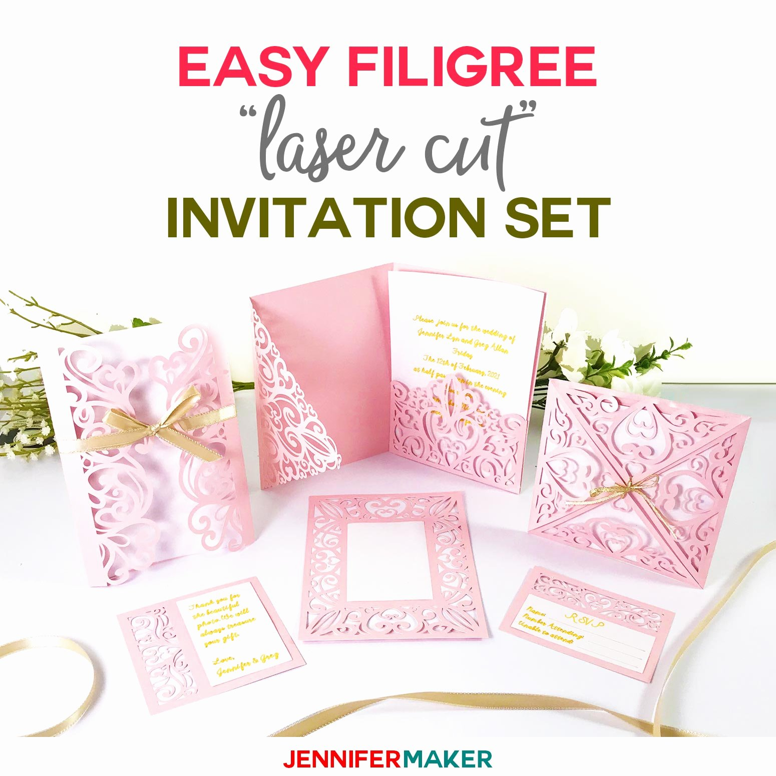"Free Wedding Invitation Template Inspirational Diy Wedding Invitation Templates Free ""laser Cut"" Set"