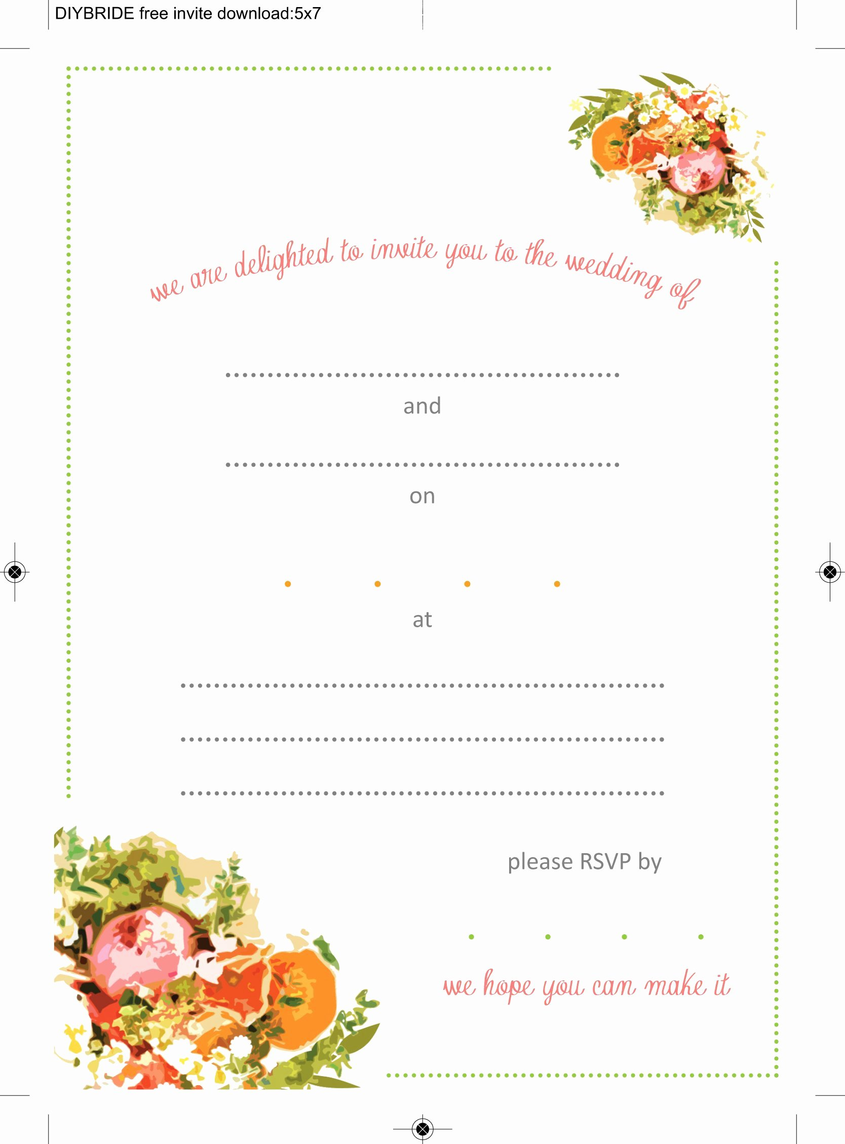 Free Wedding Invitation Template Unique Wedding Invitation Templates that are Cute and Easy to