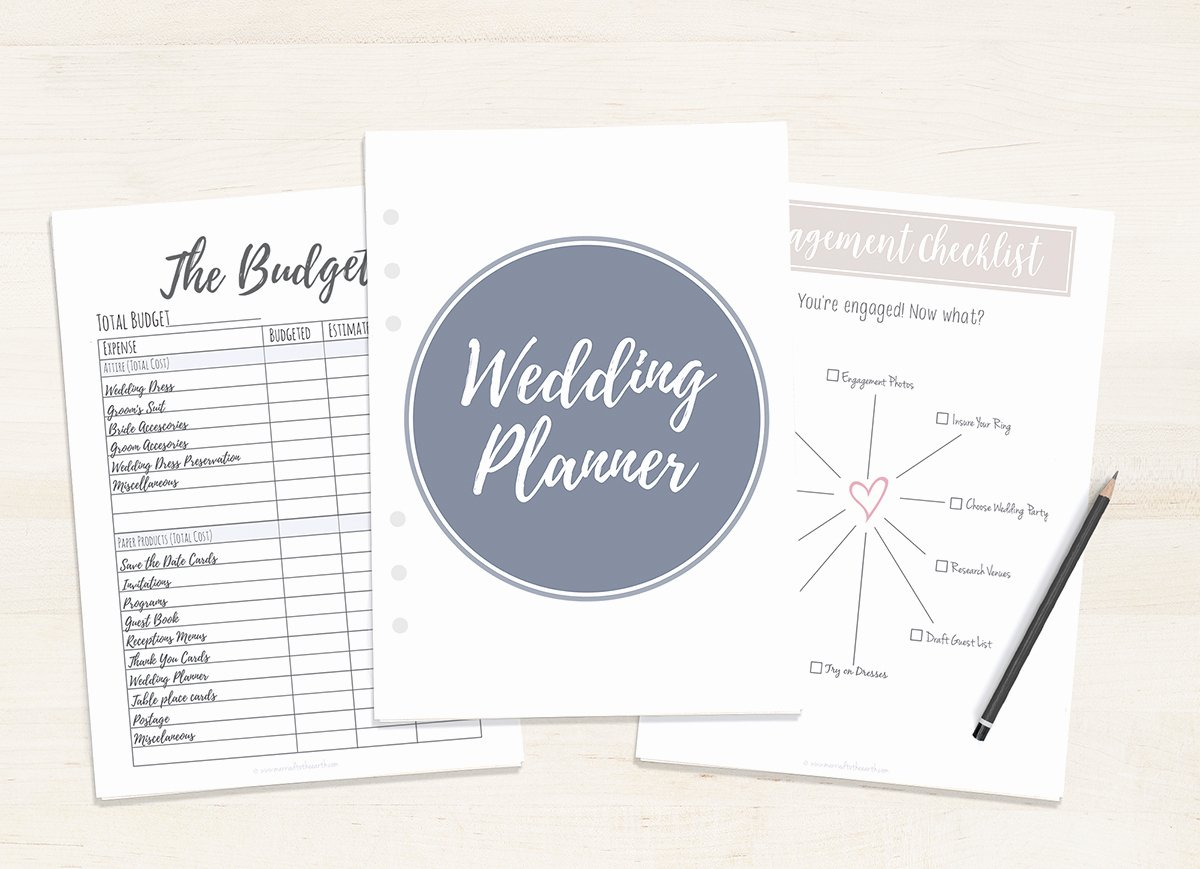 Free Wedding Plan Template New Free Printable Wedding Planner A5 & Letter