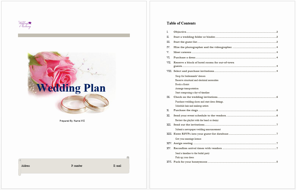 Free Wedding Plan Template Unique Wedding Plan Template Microsoft Word Templates
