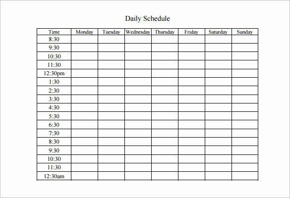 Free Weekly Work Schedule Template Awesome Weekly Work Schedule Template 8 Free Word Excel Pdf
