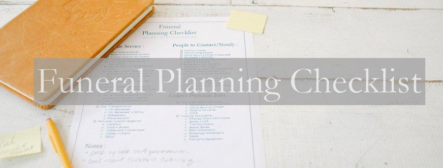 Funeral Planning Checklist Template Elegant How to Plan A Funeral Funeral Planning Checklist Free