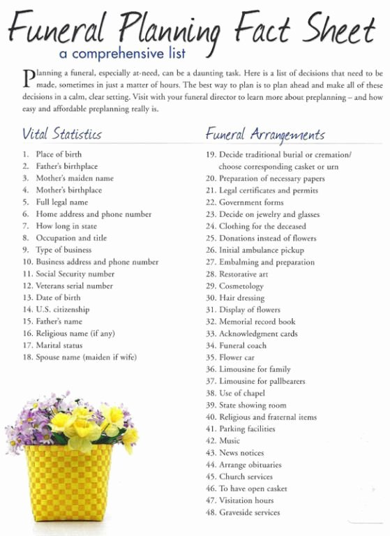 Funeral Planning Checklist Template Fresh Pin by Funeral Haven On Funeral Planning