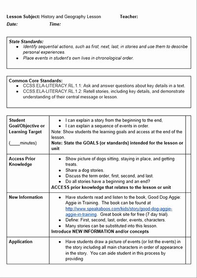 Ganag Lesson Plan Template Unique Mon Core History Lessons Free Lesson Plan Template