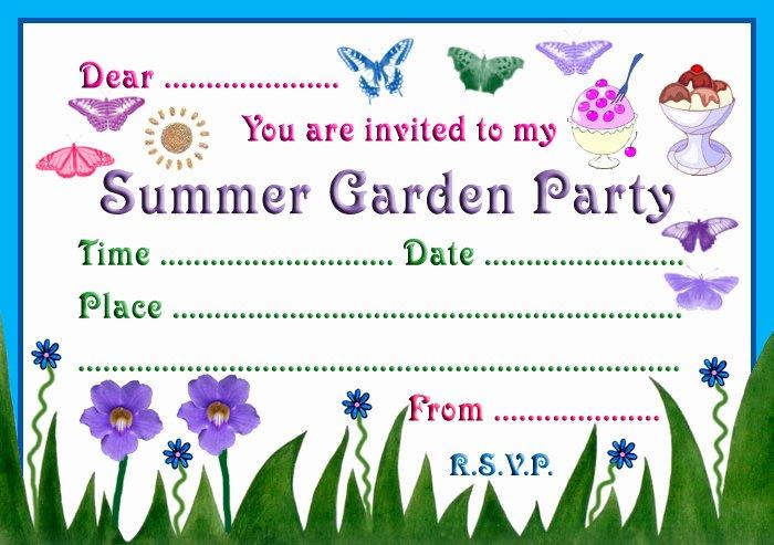 Garden Party Invitation Template Awesome Garden Girl Birthday Party Ideas