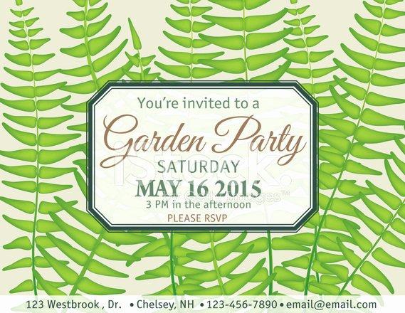 Garden Party Invitation Template Best Of Ferns Garden Party Invitation Template Stock Photos