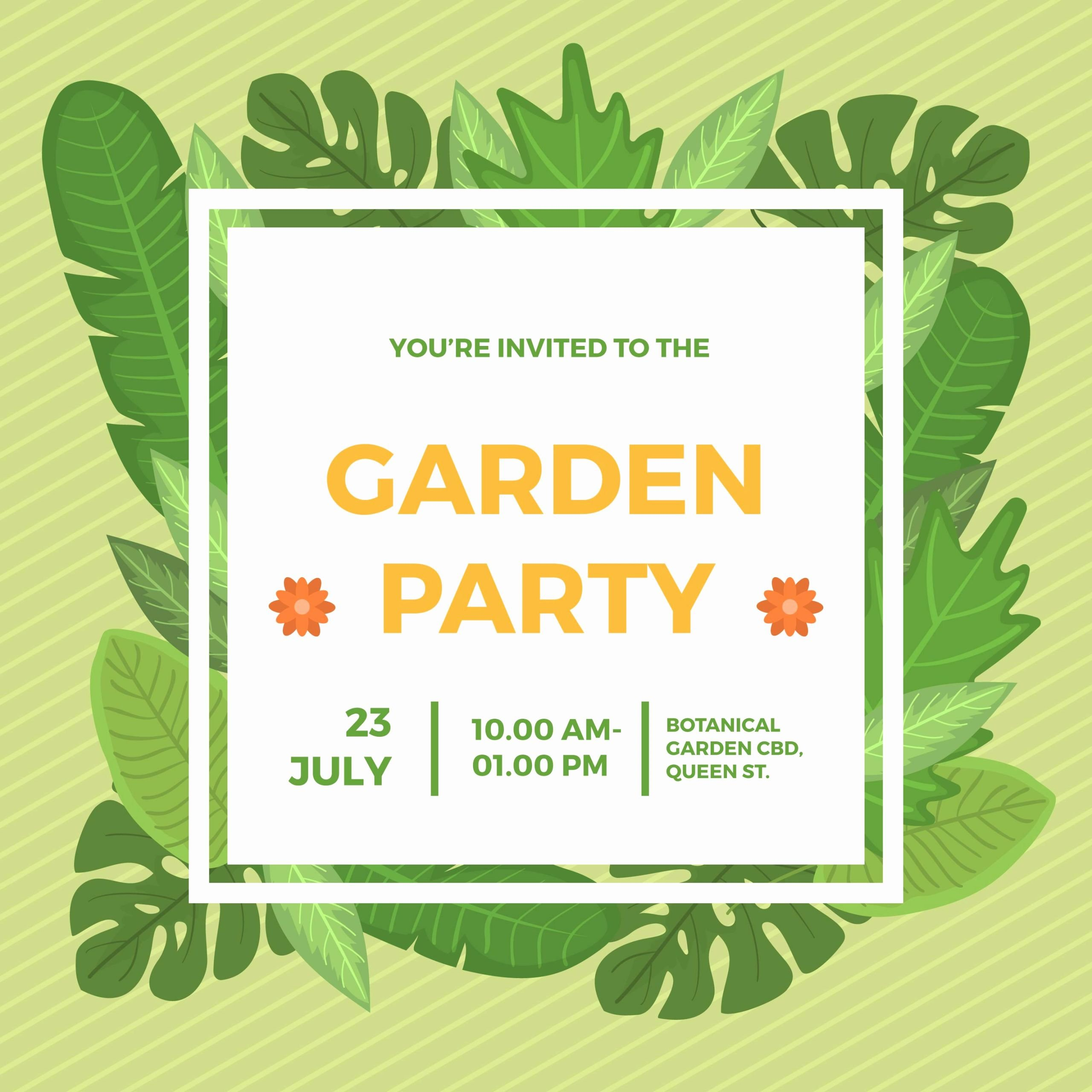 Garden Party Invitation Template Best Of Platte Tuin Partij Uitnodiging Vector Sjabloon Download