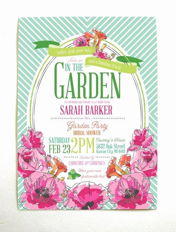 Garden Party Invitation Template Fresh Derby Garden Party Bridal Shower Invitations Via Etsy