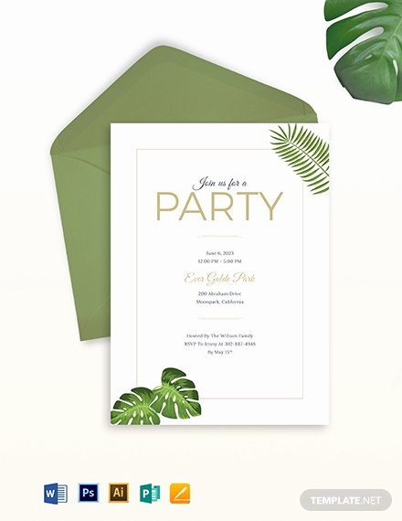 Garden Party Invitation Template Fresh Free Garden Party Invitation Template Download 767