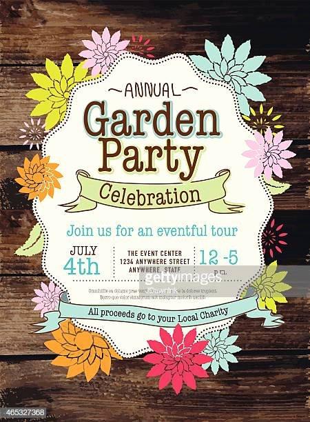 Garden Party Invitation Template Fresh Garden Party Premium Stock Illustrations Getty