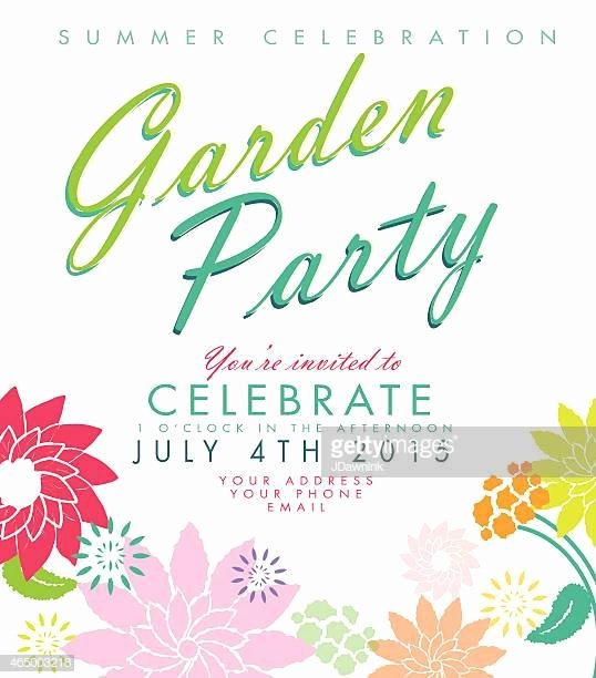 Garden Party Invitation Template Fresh Garden Party Stock Illustrations and Cartoons
