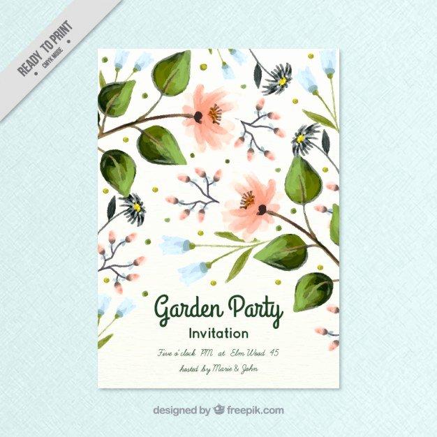 Garden Party Invitation Template Fresh Spring Garden Party Invitation Vector