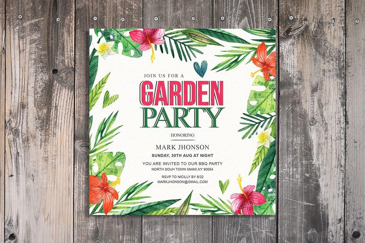 Garden Party Invitation Template Fresh Summer Garden Party Invitation Invitation Templates