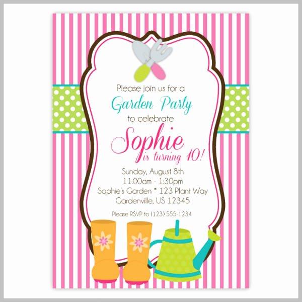 Garden Party Invitation Template Luxury 18 Garden Party Invitation Designs & Templates Psd Ai