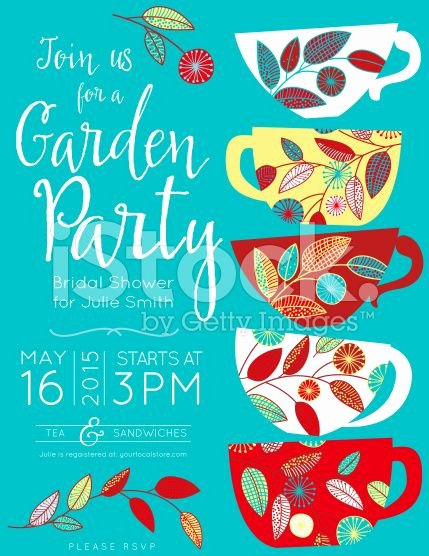 Garden Party Invite Template Beautiful Garden Party Bridal Shower Tea Party Vertical Template