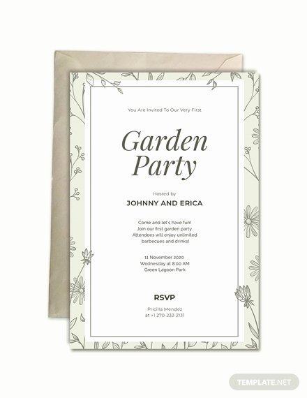 Garden Party Invite Template Best Of Free Garden Party Invitation Template Download 508