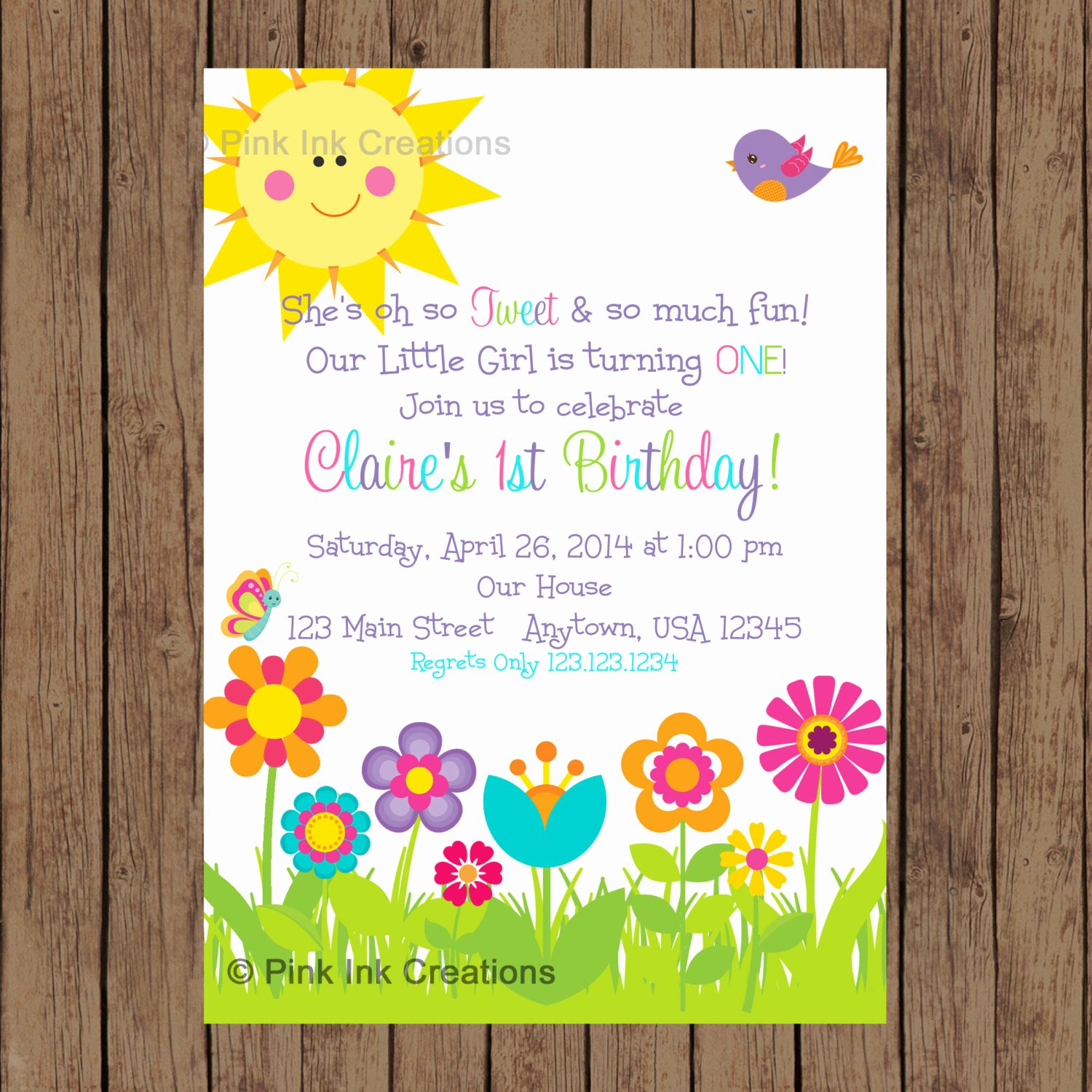 Garden Party Invite Template Best Of Garden Party Invitation Garden Birthday Invitation Spring