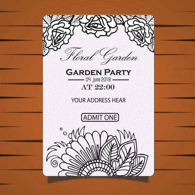 Garden Party Invite Template Elegant Garden Party Invitation Card Template for Free Download On