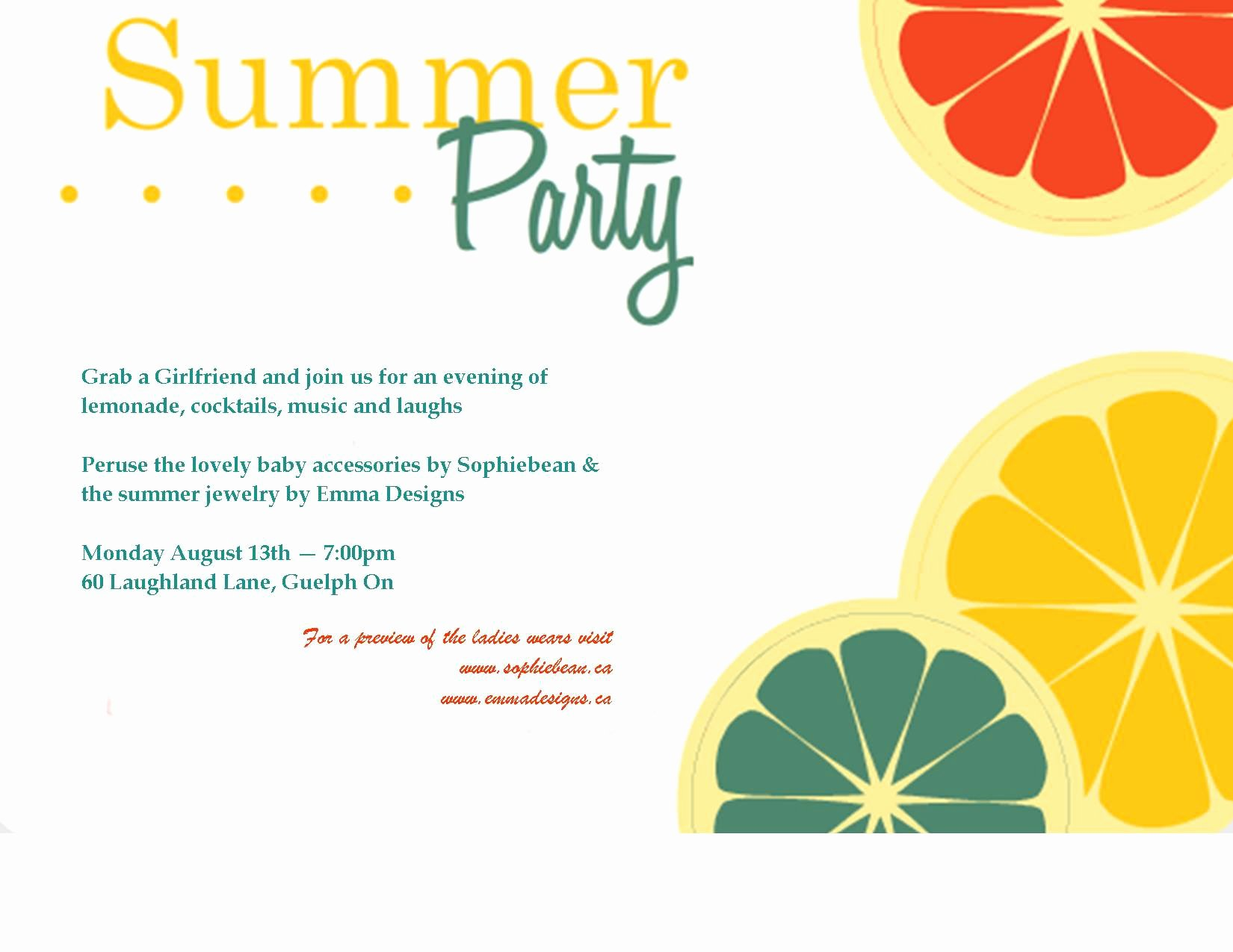 Garden Party Invite Template Inspirational Summer Party Invitation Template Summer Party Invitation