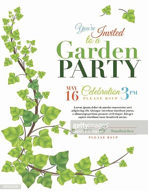 Garden Party Invite Template Lovely Creeper Plant Stock Illustrations and Cartoons