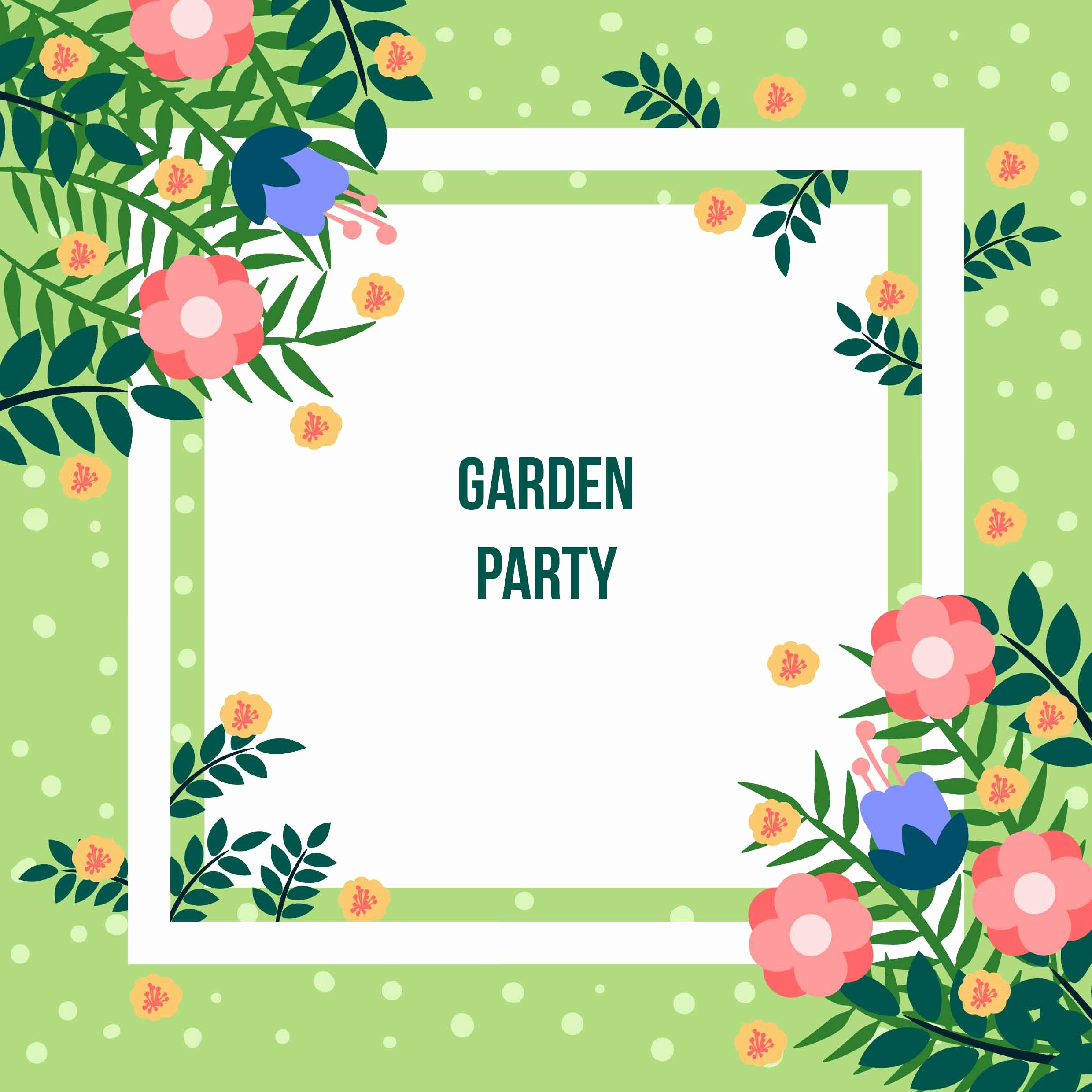 Garden Party Invite Template Lovely Garden Party Invitation Download Free Vector Art Stock