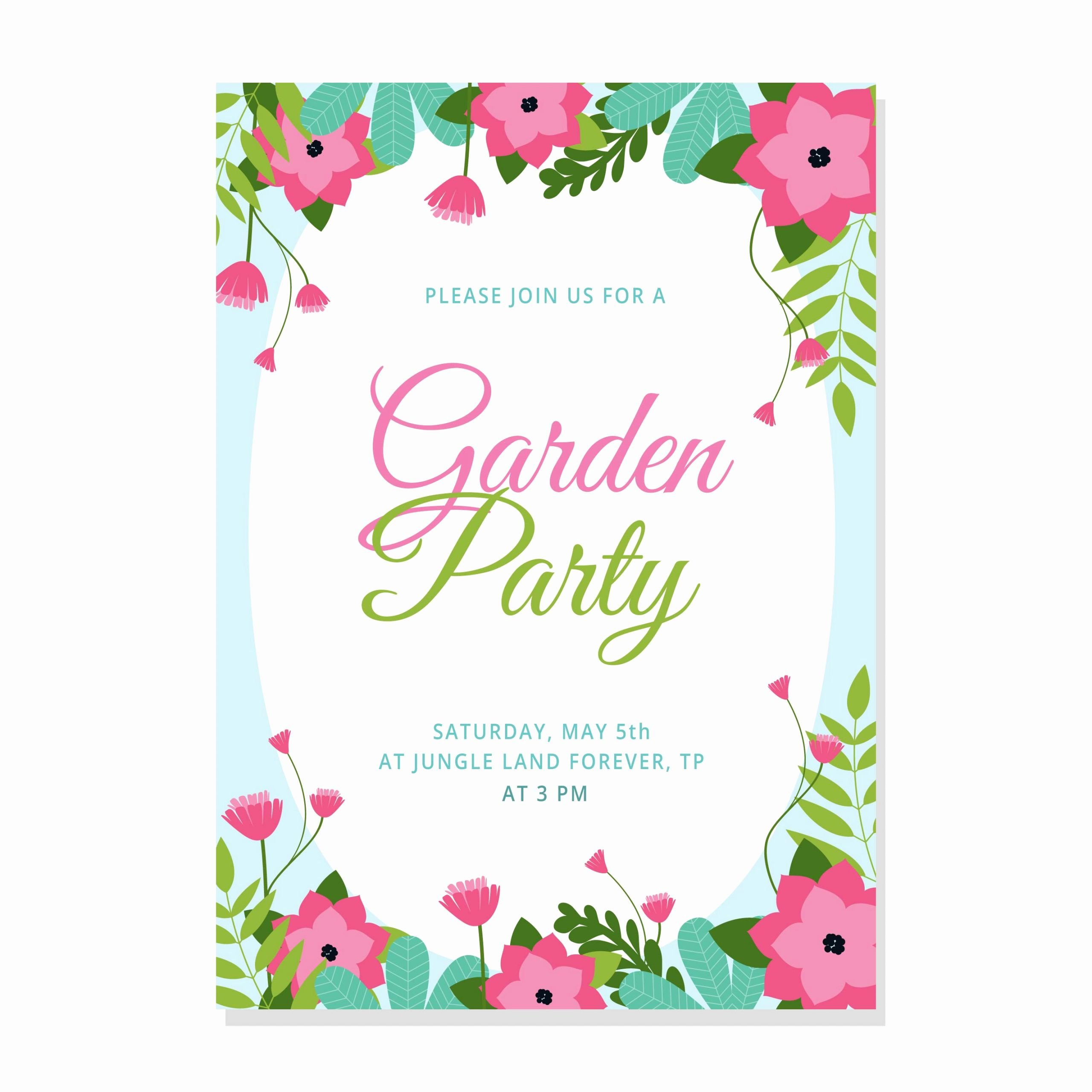 Garden Party Invite Template Lovely Garden Party Invitation Download Free Vectors Clipart