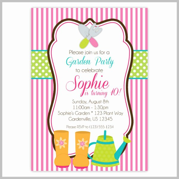 Garden Party Invite Template Luxury 18 Garden Party Invitation Designs & Templates Psd Ai