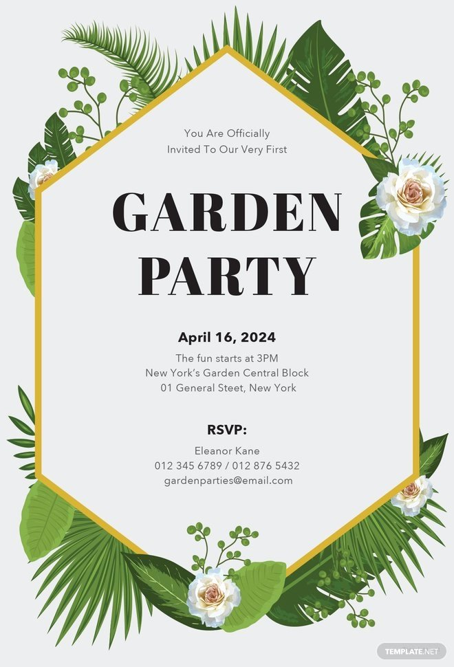 Garden Party Invite Template Luxury Free Garden Party Invitation Template In Microsoft Word