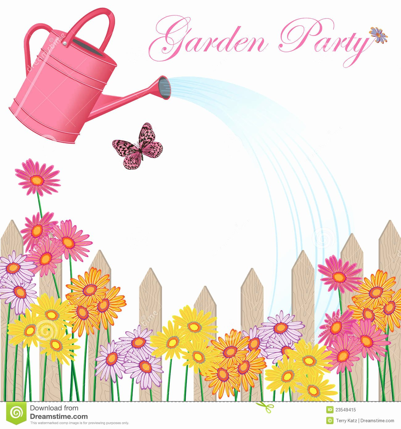 Garden Party Invite Template Luxury Garden Party Invitation Royalty Free Stock Image