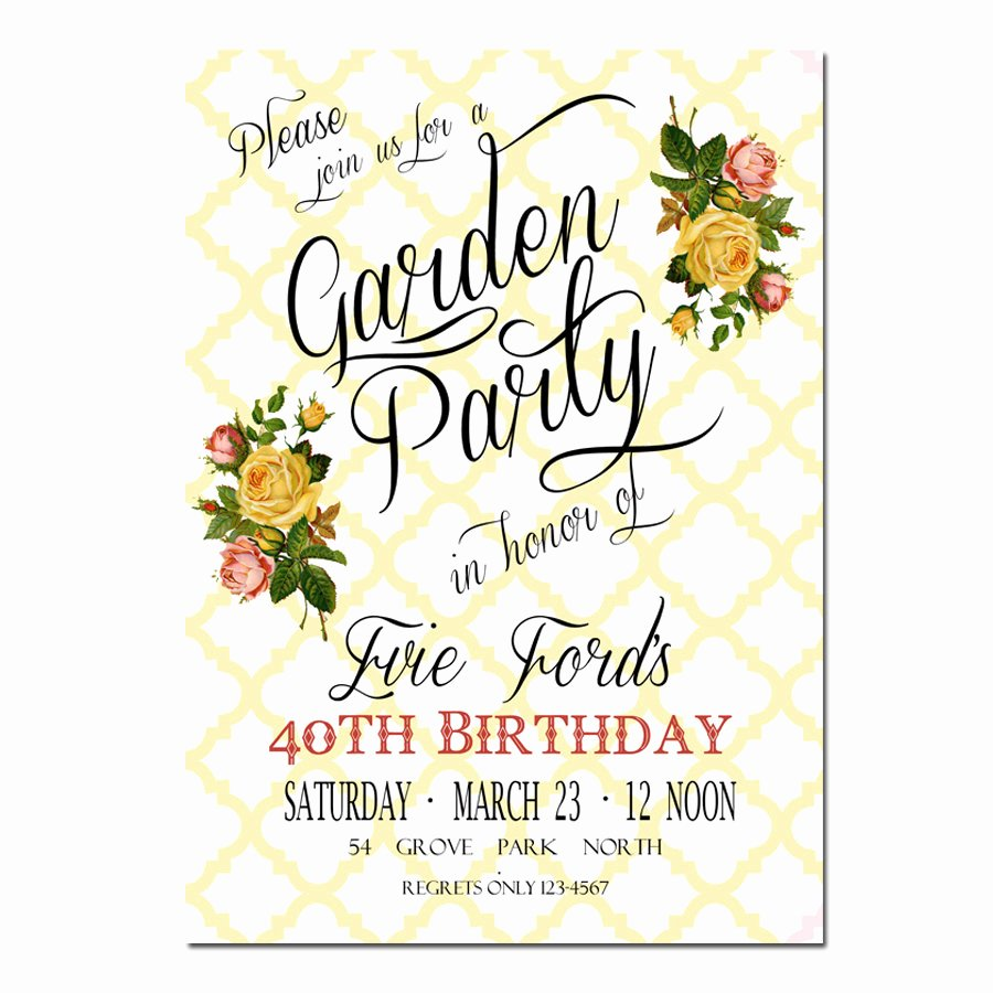 Garden Party Invite Template New Garden Party Invitation Bridal Shower Invitation
