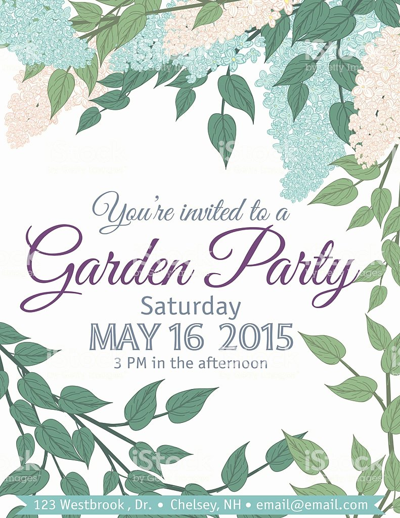 garden party invitation template gm