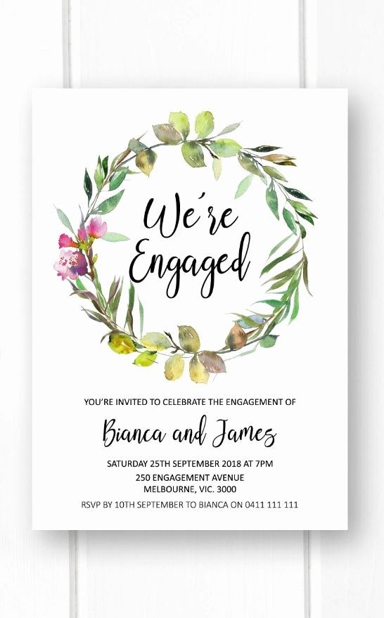 Garden Party Invite Template New Rustic Engagement Invitations Printable Engagement Party