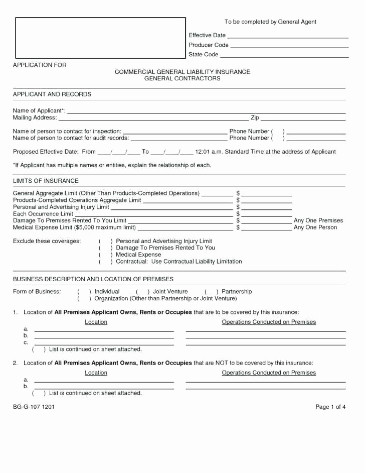 General Liability Waiver form Template Elegant Davidhdz