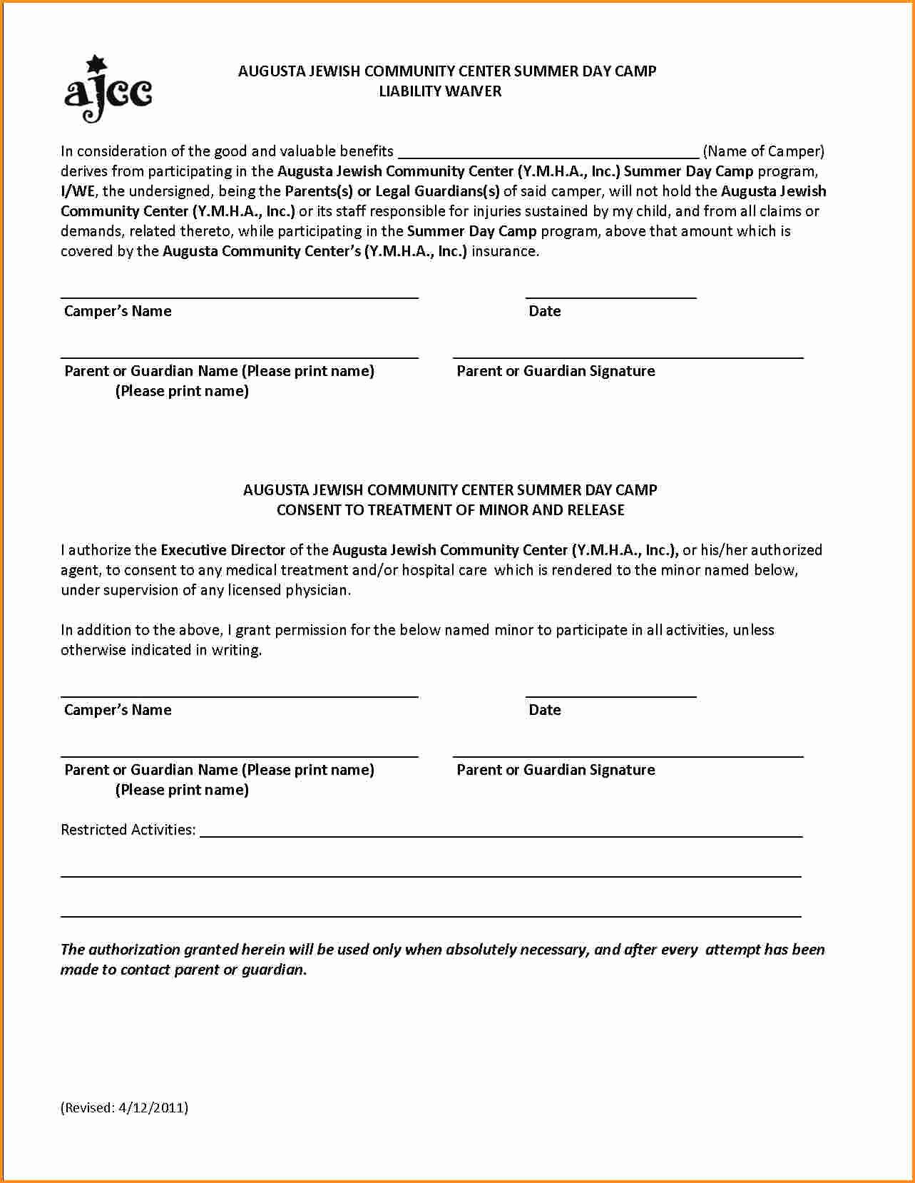 General Liability Waiver form Template Lovely 28 Of Product Liability Waiver form Template