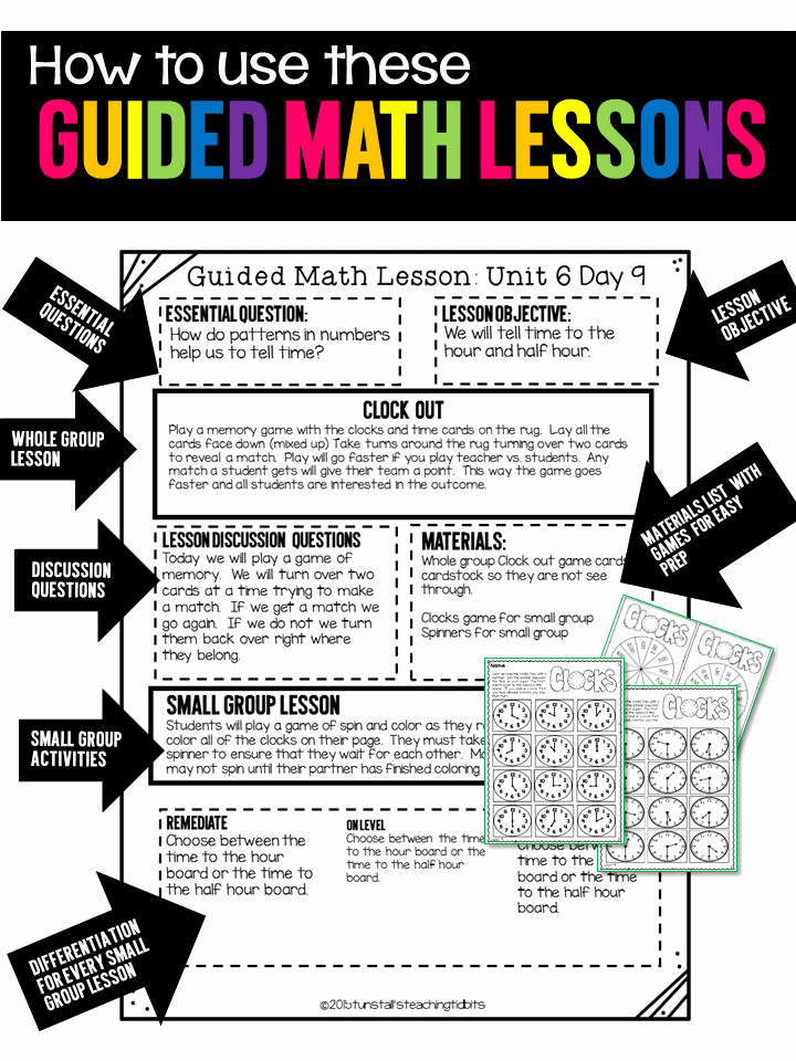 Go Math Lesson Plan Template Awesome Guided Math Tunstall S Teaching Tidbits