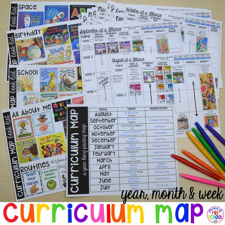 Go Math Lesson Plan Template Beautiful Curriculum Map Preschool Pre K and Kindergarten for