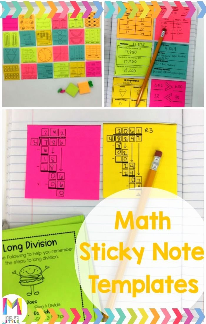 Go Math Lesson Plan Template New Math Sticky Note Template