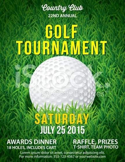 Golf Invitation Template Free Download Best Of Golf tournament Invitation Flyer with Grass and Ball