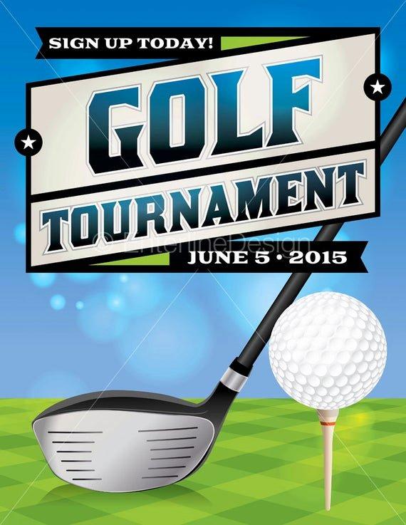 Golf Invitation Template Free Download Fresh Golf tournament Flyer Poster Invitation Custom Digital