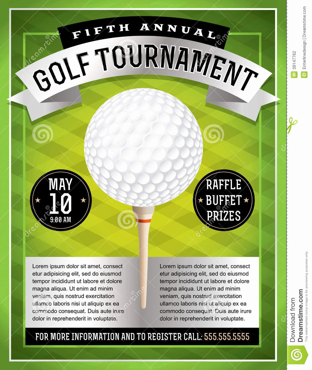 Golf Invitation Template Free Download Inspirational Golf tournament Flyer Stock Vector Image