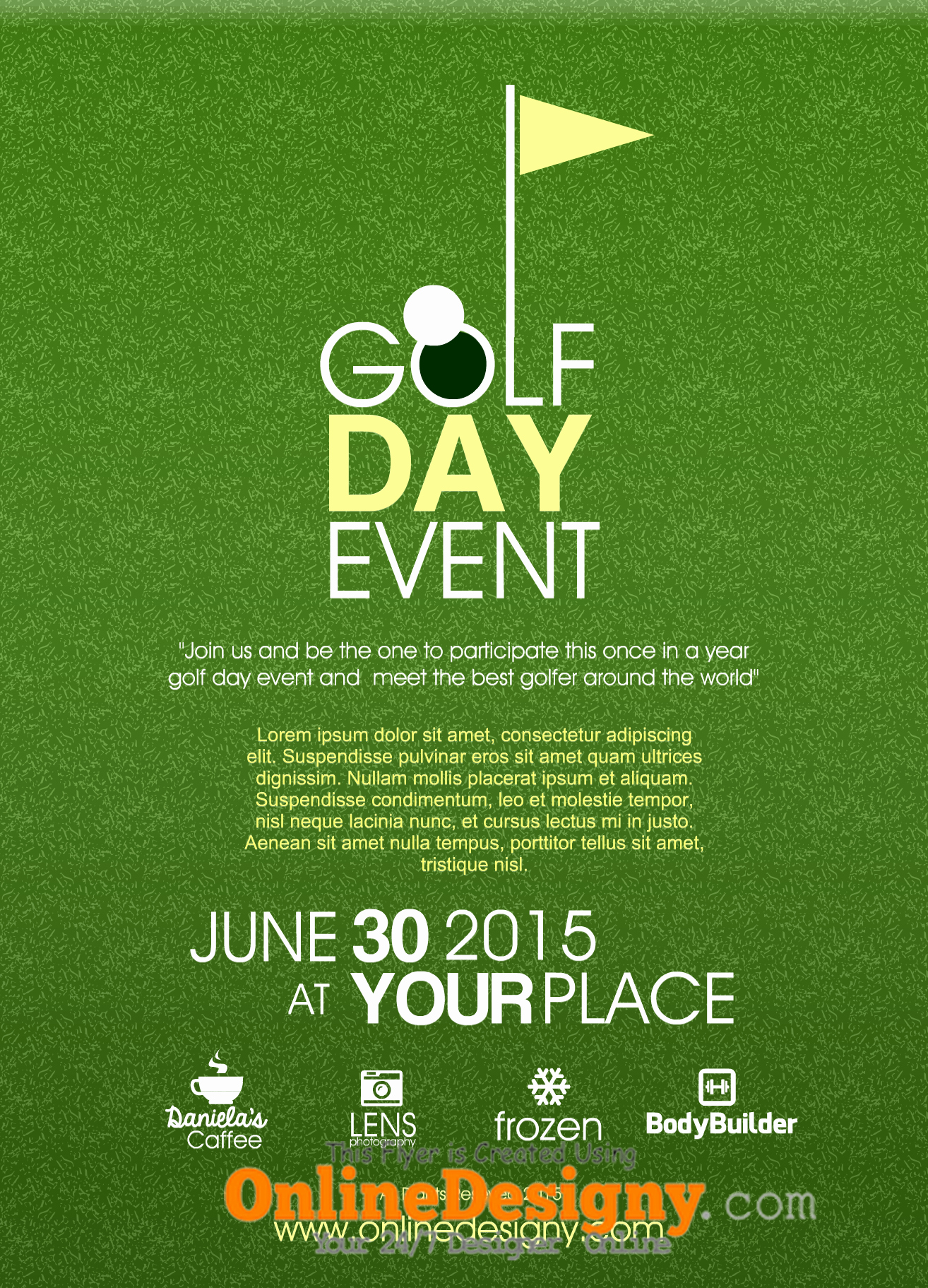 Golf Outing Invitation Template Awesome Designing A Golf tournament Flyer Bing