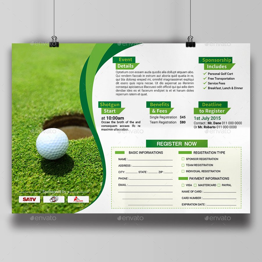 Golf Outing Invitation Template Beautiful Golf tournament Invitation Templates