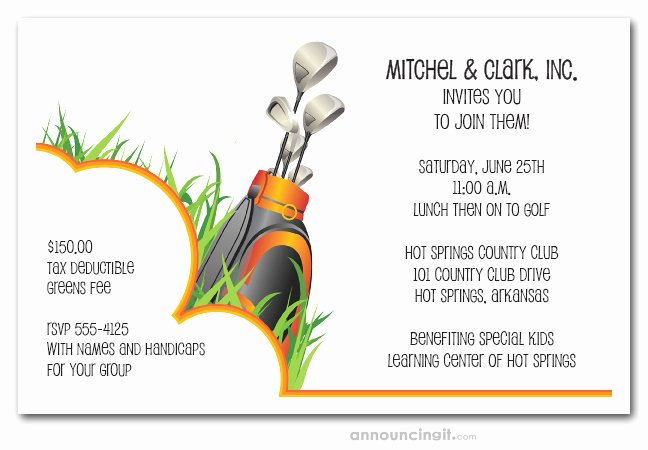 Golf Outing Invitation Template Beautiful In the Rough Golf Invitations Golf Outing Invitations