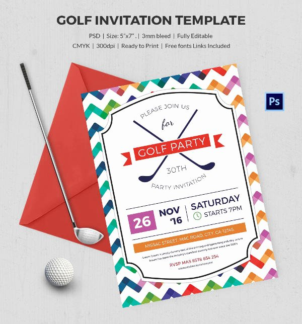 Golf Outing Invitation Template Best Of 25 Fabulous Golf Invitation Templates & Designs