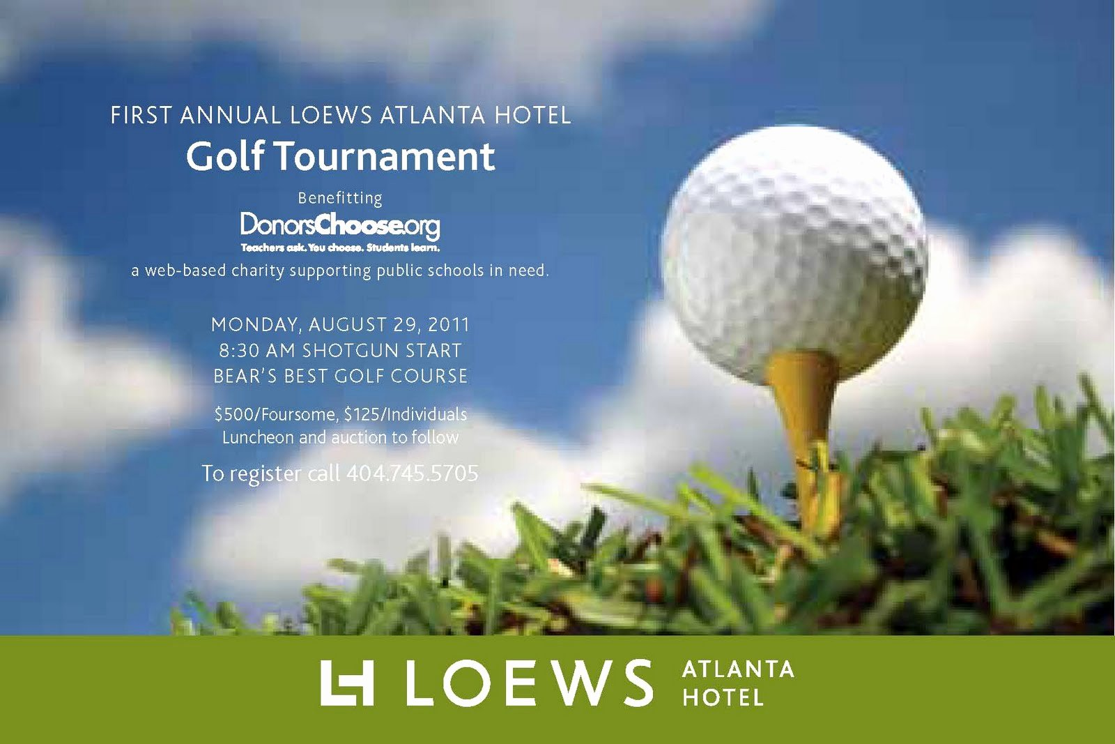 Golf Outing Invitation Template Best Of Everything Midtown atlanta Join Loews atlanta Hotel for