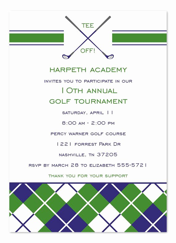 Golf Outing Invitation Template Best Of Golf tournament Invitation Templates