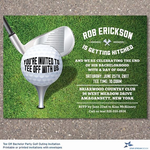 Golf Outing Invitation Template Elegant Printable Tee F Bachelor Party Golf Outing Invitation