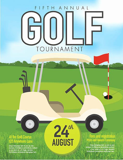Golf Outing Invitation Template Elegant Royalty Free Golf Cart Clip Art Vector