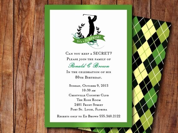 Golf Outing Invitation Template Fresh Golf themed Invitation by Goo Sdesigns On Etsy